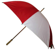 Conch Umbrellas 1160WRed 150cm . Jumbo Golf Umbrella With Wood Shaft - Red