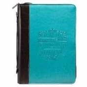 Christian Art Gifts 364134 Bible Cover-Fashion And I Can Do Everything - Large Turquoise