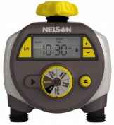 Nelson Sprinkler 56612 Large Double Outlet Timer With Easy To Read LCD Screen