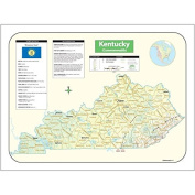 Universal Map 28386 Kentucky State Shaded Relief Map