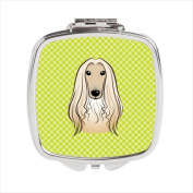 Carolines Treasures BB1306SCM Checkerboard Lime Green Afghan Hound Compact Mirror 2.75 x 3 x .7.6cm .