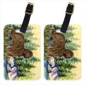 Carolines Treasures SS8131BT Field Spaniel Luggage Tags Pack - 2