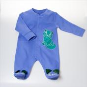 Little Ashkim BUKFBL69 Kitten Footie - Blue 6-9 months