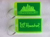 Destinations Neon Acrylic I.D. Tag - Houston Green