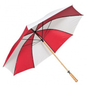 Elite Rain Frankford 2988WS-RW Wooden Shaft Golf Umbrella Red and White