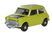 oxford classic lime green mr bean mini car 1.76 railway scale diecast model
