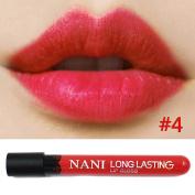 Neverland Waterproof Liquid Makeup Lip Pencil Matte Lipstick Lip Gloss Super Long Lasting 4#
