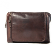 Corsa Large Leather Wash Bag, Toiletry Bag