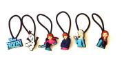 6 pcs Set of Elastic Hair Bands Hairband Hairbands Ponytail Holders Frozen Cartoon