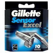 Gillette Sensor Excel Razor Blades 10 per pack