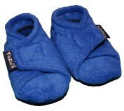 TOZIES Baby Toddler Soft Indoor Play Shoes / Slippers NON SLIP Designed to Stay on (3-4 years) ROYAL BLUE
