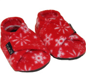 TOZIES Baby Toddler Soft Indoor Play Shoes / Slippers NON SLIP Designed to Stay on (5-12 mths) SNOWFLAKES
