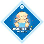 Grandchild on board sign, Grandchild on Board, Big Blue, Baby on Board Sign, baby on board, Grand Child On Board Car Sign, Grand Parents Car Sign, Grandson On Board Sign, Grandchild On Board Sign, Baby Car Signs