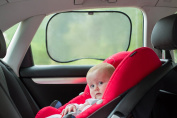Premium Car Sun Shades | Pack Of 2 | Block UV Rays | Protect Your Child | Simple Installation | 100% Infinity Guarantee