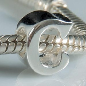 Hoobeads Authentic 925 Sterling Silver Letter Initial A-z Alphabet Beads Fits Pandora Bracelet Charms