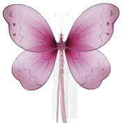 The Butterfly Grove Briana Butterfly Curtain Tieback for Baby, Magenta Hibiscus, Small/18cm x 15cm