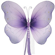 The Butterfly Grove Briana Butterfly Curtain Tieback for Baby, Purple Wisteria, Small/18cm x 15cm