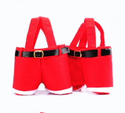 Homecube® 10Pcs Christmas Candy Bag Santa Pants Gift and Treat Bags with Handle Portable Candy Gift Baskets Gift Wrap for Wedding