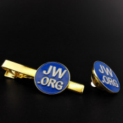 Jw.org Metal Necktie Clip and Lapel Pin Set with Gift Box