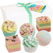 """BRUBAKER Cosmetics 6 Handmade """"Sweets For My Sweet"""" Spa Bath Bombs Fizzies Gift Set - All Natural Vegan, Organic Shea Butter, Cocoa Butter and Olive Oil Moisturise Dry Skin"""