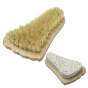 Aisilk 2in1 Foot Pumice Stone Bristle Brush Combo Exfoliator Pedicures Smoother Exfoliating Remove Dead Skin Massage SPA