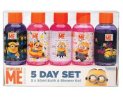 Despicable Me Minion Made 5 Day Bath & Shower Gel Set