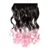 Vani® Muti Colour One Piece Colourful Hair Extensions Curly Party Bar