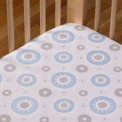 Living Textiles Baby Orbit Cotton Poplin Fitted Sheet