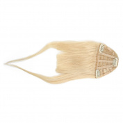 BEAUTY PLUS® Clip on Bangs Real Human Hairpieces for Women