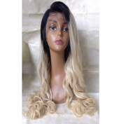 Sunny Grace®Glueless Brazilian Human Hair Wave Ombre Lace Front Wigs for Black Women