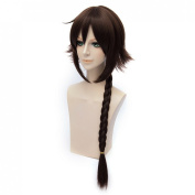 Coolsky Cosplay Costume Wigs Collection Twisted Braid Brown Wig