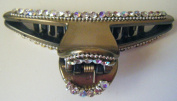 Hair Clip, Gold Coloured with Rhinestones + FREE GIFT BAG