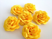 Bridal Wedding 6 Pcs Lemonade Satin Flower