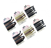 ColorBeBe - No-Crease, Soft and Stretchy Hair Ties - 30pcs (Blonde, Black and Brown) Solid and Lace - HT567