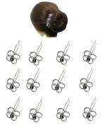 Dozen Pack Hair Sticks Hairpins SH863075-4ring-D