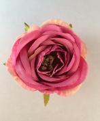 Small Victorian Rose Artificial Flower Hair Clip/Pin Brooch