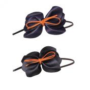 Emmalise Women's Cute Faux Leather Ribbon Flexible Hairband Headband