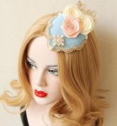Lolita Lace Pearl Palace Rose Luxury Tiara Hairpin Headpiece/headdress Small Hat