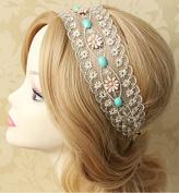 Bohemia White Lace Hair Band Rope Scarf Tiara Headpiece/headdress Headband