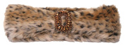 Womens Faux Fur Headband w/ Crest