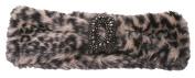 Womens Faux Fur Headband w/ Crest