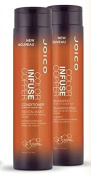 Joico Colour Infuse Copper Shampoo and Conditioner 300ml Duo
