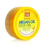Via Natural Moroccan Argan Oil X3 Edge Gel for Extreme Hold & Brilliant Shine