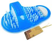 Noppor Bathroom Shower No Bending Feet Brush Foot Cleanning Bristle Slipper Bath Scrubber Massager Stick on Floor