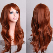 Aimer 70cm Heat Resistant Hair Ginger/ Light Brown Colour Spiral Cosplay Wigs for Women Girls