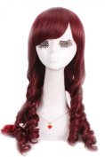 Nuoqi Sexy Ladies Wine Red Classic Wave Anime Cosplay Wigs