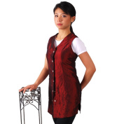 JMT Beauty Sleeveless Burgundy Salon Smock (L