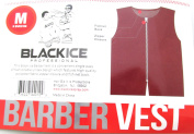 Black Ice Barber Vest Size Burgundy Medium, Professional, barber cape, barber, salon, polyester, fabric, polyester fabric, high quality, fish net, convenient, haircut, hair cutting, hair salon, stylist, hair stylist , hair styling cape