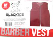 Black Ice Barber Vest Size Burgundy Medium, Professional, barber cape, barber, salon, polyester, fabric, polyester fabric, high quality, fish net, convenient, haircut, hair cutting, hair salon, stylist, hair stylist , hair styling cape