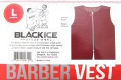 Black Ice Barber Vest Size Burgundy Large, Professional, barber cape, barber, salon, polyester, fabric, polyester fabric, high quality, fish net, convenient, haircut, hair cutting, hair salon, stylist, hair stylist , hair styling cape